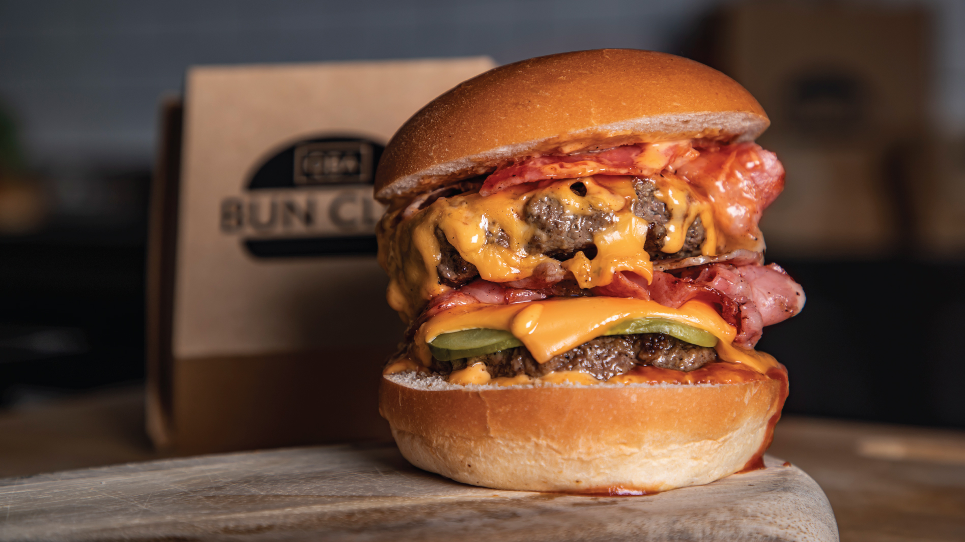 Double Beef and Bacon Burger