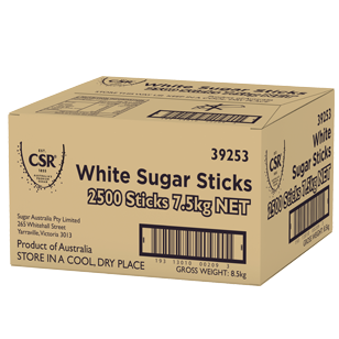 CSR White Sugar Sticks 3g x 2500 product photo